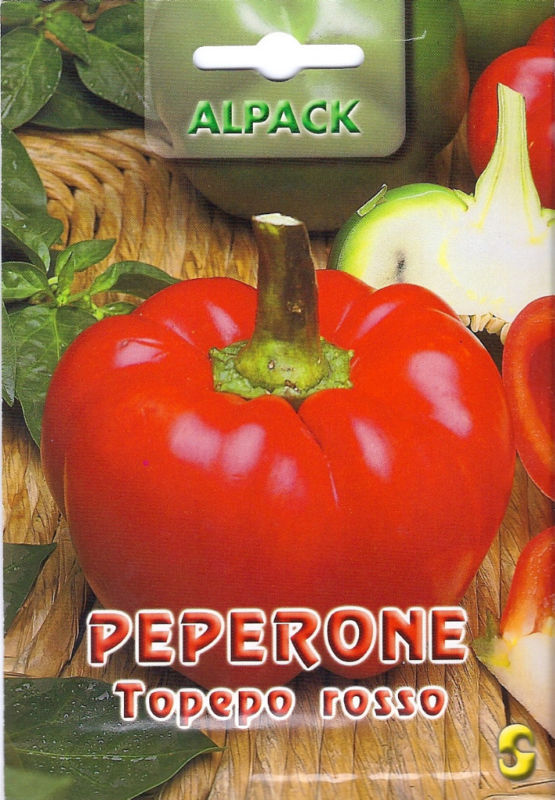 Pepper Sweet Topepo Rosso