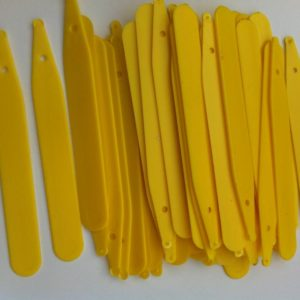 PLASTIC YELLOW PLANT / SEED LABELS 5 INCH